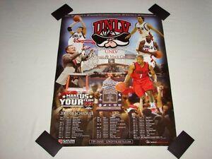 UNLV Runnin Rebels Basketball 2007-08 Team Poster NCAA 24x18 SUPER RARE