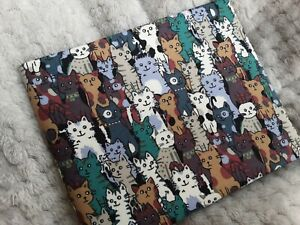 Disabled Blue badge holder wallet cover MIXED CATS  fabric  Hologram safe