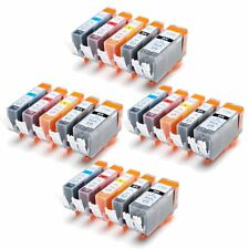 20 x PGI-520 CLI-521 Compatible Ink Cartridges for CANON MP540 MP550 MP560 4 Set
