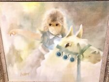 Fred Money Original Painting - Girl And Her Horse