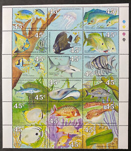 DOMINICA  1232  Beautiful  Mint  NEVER  Hinged  Sheet  FISH  AG