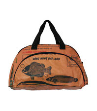 Fair Trade Upcycled Fish Feed Deluxe Cabin Size Travel Bag made in Cambodia