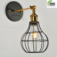 Vintage Lampshade Vase Industrial light Metal Frame lamp Cage Guard Bar Cafes UK