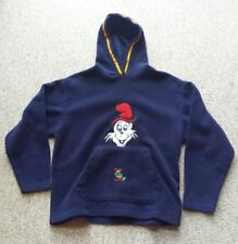 Vintage Blue Hoodie Green Eggs & Ham Cat in the Hat Stitched Raised Logo Large
