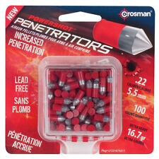 Crosman LF22167 Powershot Red Flight Penetrator Pellets .22 Caliber, 100 Count