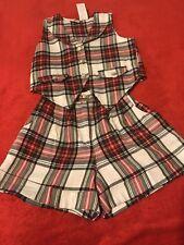 Rachel'S Kids 2 Pieces, Size 5 Slim, Button Up Top, Front Zipper Shorts.