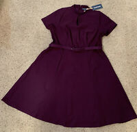 Modcloth Dress 1x Dark Purple With Pockets!