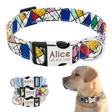 Dog Collar Personalized Nylon Pet Dog Puppy Cat ID Collars for Medium Large Dog