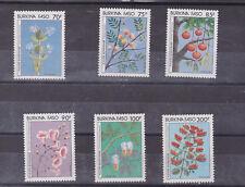 burkina faso 1987 Sc 797/902 flower,set MNH       m1647