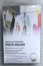 Kikkerland 10 Mini Clothespin Photo Holder Multicolor New Amp Cool