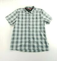 The North Face Mens Button Short Sleeve Button Down Plaid Dress Shirt sz XL