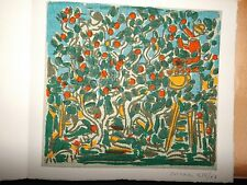 André COTTAVOZ (1922-2012) Litho Impression sur Tissu- 1960 - Galerie nichido
