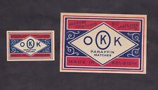 Ancienne étiquette   Allumettes Belgique BN29886 OKK