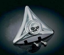 cache tete de mort harley custom  Kuryakyn 3158 fender hole Cover skull