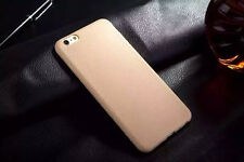 Man's Ultrathin TPU Leather Grain Soft Back Case Cover For iPhone 5 6 6s Plus US