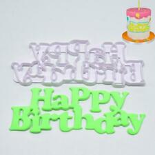 Happy Birthday Fondant Cake Mould Decorating Mold Chocolate Baking Sugarcraft