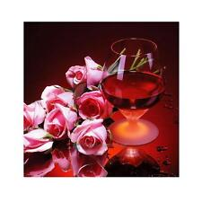 Red Wine Rose 5D Full Drill Diamond DIY Embroidery Painting Cross Stitch Decors