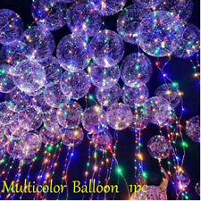 LED Light Balloons Transparent Balloon Wedding Birthday Xmas Party Lights Decor Multicolor