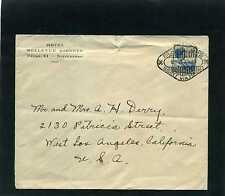 NEDER-INDIE,- Buitenzorg - Java,cover HOTEL BELLEVE- TO LOS ANGELES,CALIF.1935