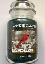 Yankee Candle Sparkling Balsam 22 oz. Large Jar Winter Red Cardinal Label