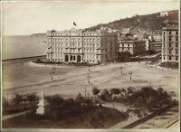 1890 FOTOGRAFIA NAPOLI GRAND HOTEL E COLLINA POSILLIPO ED. SOMMER NAPOLI