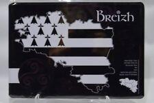 BREIZH Bretagne triskel  plaque métal sérigraphie 21x15 cm NEUF