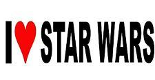 I Love Star Wars Adesivo Decalcomania in Vinile per Auto/Finestra/Muro