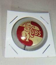 "Vintage 1950s Chicago Cubs Baseball 1"" Pin Pinback"
