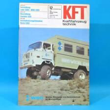DDR KfT Kraftfahrzeugtechnik 12/1981 Lada 1300 Zastava 1100 Suzuki Alto Fiat 87