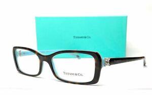 TIFFANY TF2091B 8134 Havana Women's Rectangle Eyeglasses 53 mm