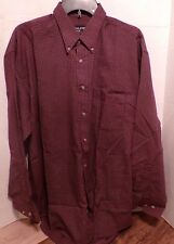 Falcon Bay long sleeve red plaid button down shirt-Mens size large