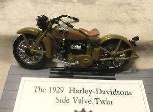 Franklin Mint The 1929 Harley-Davidson Side Valve Twin 1:24 Scale W/Box