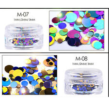 12 Colors Nails Sequins Metallic Neon Flakes UV Gel Glitter DIY Art Nail Decals