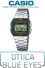OROLOGIO CASIO VINTAGE A163wa 1qes Acciaio Digital Watch GARANZIA