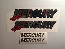4 Mercury chrome boat decals  Mercury Outboard decals