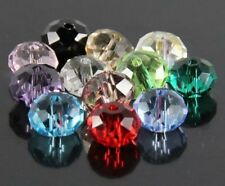 72pcs made with Gorgeous 6*8mm rondelles crystal beads E Multi-colored