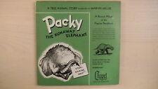 "Rare Chapel Records True Animal Story PACKY THE RUNAWAY ELEPHANT 2- 7"" 33rpm 50s"