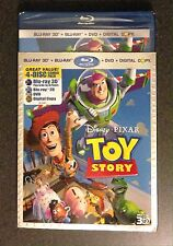Disney TOY STORY 3D Blu-Ray DVD Digital Copy 4-Disc Set w/ SlipCover New & Rare!