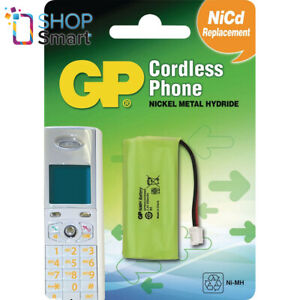 GP T382 CORDLESS PHONE CHARGER BATTERY METAL HYDRIDE UNIVERSAL 2.4V 550mAh NEW