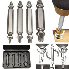 4pcs Screw Extractor Drill Bits Guide Set Broken Damaged Bolt Remover Speed OutK
