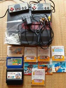 SHARP TWIN FAMICOM AN-500B Nintendo Black Console With Cassette & Disc & Band