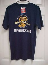 CHARLESTON RIVER DOGS Adult Blue Pullover Cool Base Shirt S Majestic NEW TAGS