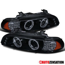 For 2001-2003 BMW E39 528i 540i Black Smoke Projector Headlights LED Signal DRL