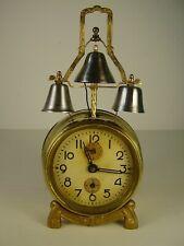 Antiker seltener Jugendstil 3 Glocken Wecker um 1890