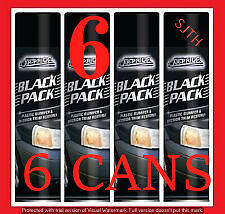 6 X Blackpack 300ml Spray Can Restores Bumpers & Plastic Back To Black(Pack x 6)