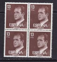 España 1981. Serie básica Rey fosforo, valor clave bloque 4. Ed 2599p. MNH. **.