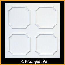 Ceiling Tiles Glue Up Styrofoam 20x20 R1 White Lot of 8