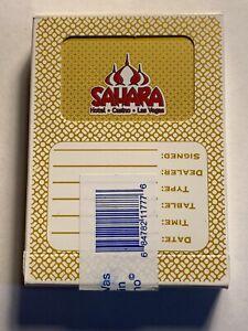 Sahara Casino Playing Cards Las Vegas Nevada SEALED