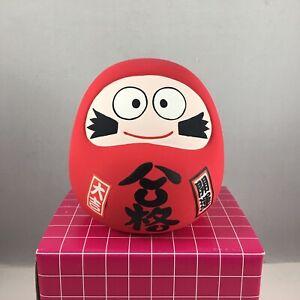 "Japanese 3.5""H Clay Red Lucky Daruma Gokaku Passing Exam Success Made in Japan"