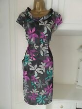 """GEORGEOS LINED DRESS BY LAURA ASHLEY IN VG CON SIZE UK 16 BUST 40"""""""